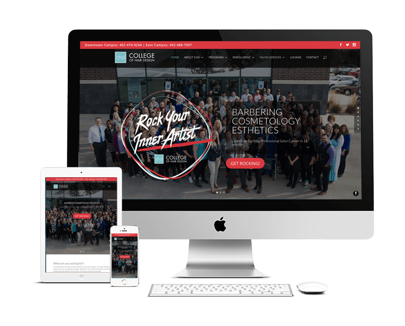 College of Hair Design - Custom web design